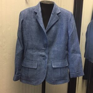 Ralph Lauren blue linen jacket.